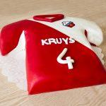 Voetbal t-shirt taart