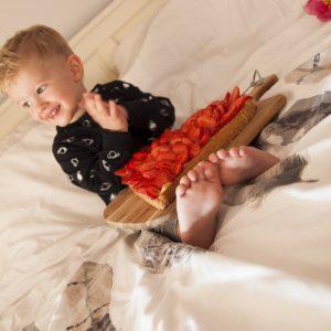Hart taart met verse aardbeien