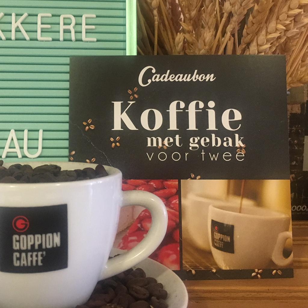 Cadeaubon: Koffie met gebak voor twee